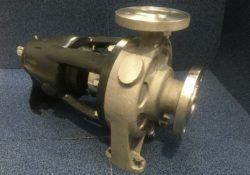 UK national holiday no barrier for Amarinth bareshaft replacement pump for old Girdlestone unit at BASF